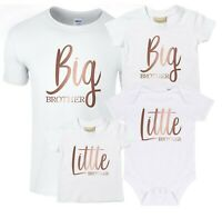 Rose Gold Big & Little Brother T-Shirts & Bodysuits - Pregnancy Reveal Gift Boys