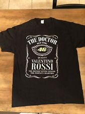 VALENTINO ROSSI The Doctor VR 46 Moto Racing Official T Shirt  Black LARGE EEUC