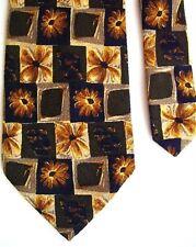 "Ailea Men's Silk Floral Neck Tie Yellow 4 1/8"" x 58"""