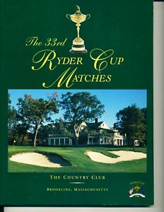 33rd RYDER CUP THE COUNTRY CLUB Brookline MA 1999 Program Tiger Woods