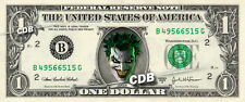 JOKER on REAL Dollar Bill Cash Money DC Comic Collectible Memorabilia Bank Note