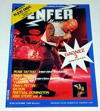 Enfer Music Magazine Oct 1985 France KISS Band Thin Lizzy Rose Tattoo Saxon