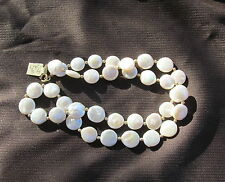"""Necklace Pearl coin 11-12mm White 14K gold filled  21"""" N023"""