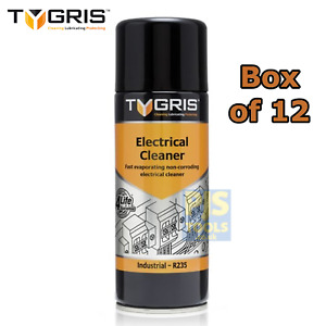 12x Tygris R235 400ml electrical switch contact cleaner spray