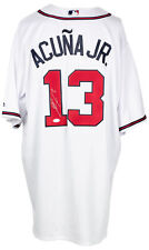 Ronald Acuna Jr. Signed White Atlanta Braves Majestic Baseball Jersey JSA