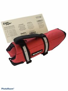 ZippyPaws Size XSmall - Adventure Life Jacket for Dogs - Red Life Jacket