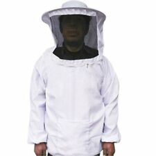 Professional Bee Beekeeping Protecting Suit Dress Jacket Veil Equipment White US