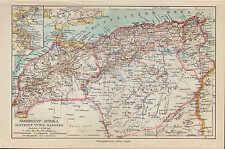 Carte MAP 1924: nord-ouest-Afrique. Algérie alger tunis Maroc Africa