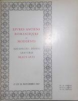 1969 Catalogue Di Vendita Drouot Libri Antichi Romantiche E Moderno