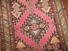 Antique Caucasian Karabagh Kazak Rug Runner Size 3'10''x12& #039;10''