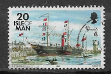 ISLE OF MAN POSTAL ISSUE USED STAMP - DEFINITIVE SHIPS - TYNWALD 1995