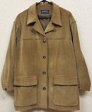 Women's Liz Claiborne Lizsport Tan Corduroy Button Jacket Coat