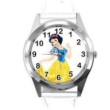 Princess Snow White Disney FILM MOVIE FAIRY TALE CD DVD TV WHITE LEATHER WATCH