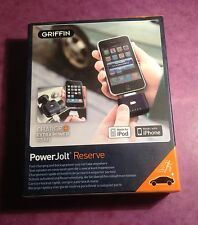 Griffin Powerjolt Reserve USB Car Charger and Backup Battery  6304PJLTRSV  BNIB