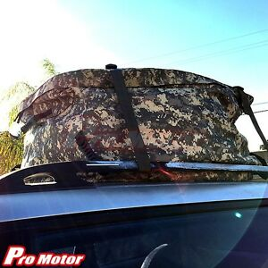 Universal SUV Van Roof Top Cargo Carrier Bag Storage Luggage Waterproof Offroad