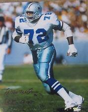 "Ed ""Too Tall"" Jones Signed Dallas Cowboys 16x20 w Super Bowl XII Inscription"
