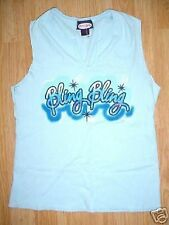 LADIES BLING BLING TOP BABY DOLL HALTER DIEGO SHIRT-L