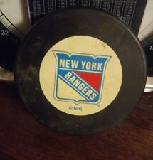 000 Vintage New York Rangers Hockey Puck Trench MFG NHL  Made in Slovakia