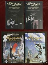 NEIL GAIMAN SIGNED x 2 - GRAVEYARD BOOK GRAPHIC NOVEL HC - 2 Vols, BOTH Signed!