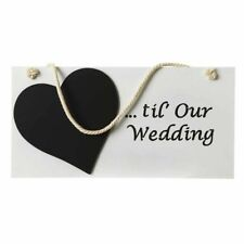 Days Till Our Wedding Wooden Chalkboard/Sign Countdown Gift/Present/Engagement