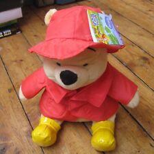 Winnie l'ourson peluche plush toy Rainy Day ourson W Chapeau Veste Rouge waterproofs