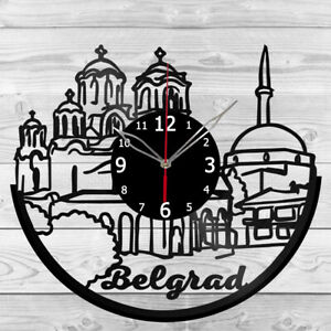 Vinyl Clock Belgrade Vinyl Record Wall Clock Home Art Decor Handmade 5143
