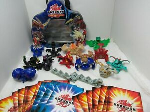 Bakugan Lot of 14 Plus 21Cards and Case