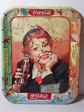 VINTAGE 1950s COCA COLA POP SODA ADVERTISING TRAY THIRST KNOWS NO SEASON ANTIQUE