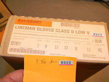 "Salisbury Lineman Gloves Class 0 Low Voltage 11"" Black P/N E011B/11, 06/09 NIB"