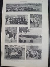 Theodore Teddy Roosevelt's Rough Riders Camp At San Antonio Texas Harper's 1898