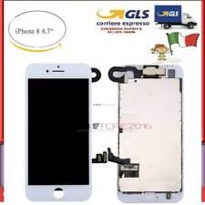 DISPLAY COMPLETO SCHERMO LCD PER IPHONE 8 ASSEMBLATO BIANCO  + Camera + Earpiece