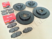 FOR CLIO SPORT 172 182 FRONT REAR BLACK GROOVED PERFORMANCE BRAKE DISCS PADS