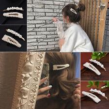 2Pcs Popular Pearl Hair Clips Accessories Women Girls Hair Barrette Headdress