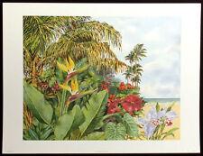 """Peter Wong """"Tropical Hideaway"""" Offset Lithograph Art Print, 1995, Make Offer!"""