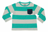 First Impressions Baby Boys Striped Chest Pocket  Long Sleeve T-Shirt 24M