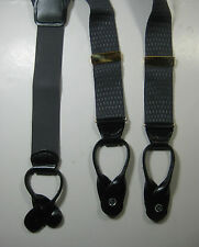 PELICAN USA Rich Gray Geometric Diamonds Braces Suspenders RARE