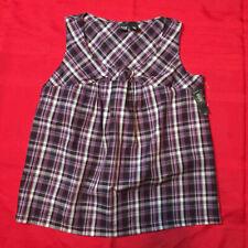 ANA A New Approach MATERNITY - Shirt - Purple Plaid - Women Large