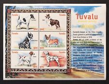 TUVALU DOG STAMPS SHEET 6V 2000 MNH DOMESTIC ANIMALS TERRIER COLLIE DALMATIAN 2