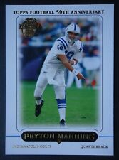 NFL 203 Peyton Manning Indianapolis Colts Quarterback Topps Football 50th 2005