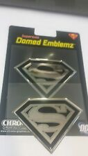 SUPERMAN DOMED BADGE DECAL SICKER CHROME LOOK****