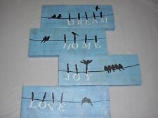 Birds On A Wire Wall Paintings Set Of 4