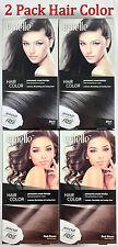 2pk Epielle Black & Brown Hair Coloring Dye for Women 5 Minute color Cream