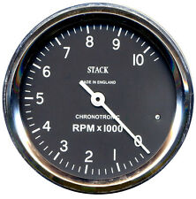 Stack Chronotronic Classic Tachometer Rev Counter 88mm Stepper Motor 0-10 Krpm