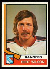 1974-75 OPC O PEE CHEE HOCKEY #384 BERT WILSON ROOKIE EX-NM NEW YORK RANGERS RC