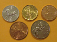 Horse coin set 5 coins  uncirculated India Norway animal coin nice starter set
