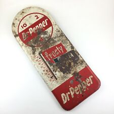 """Dr. Pepper Metal Sign Frosty Cold Wall Thermometer Working Ad 16""""x6"""" Soda Pop 10"""