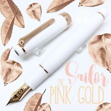 Sailor Professional Gear Rose Gold 21K nib Fountain Pen White