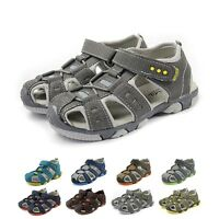 Casual Toddler Kids Leather Shoes Baby Boys Closed Toe Summer Beach Sandals AU