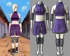 Naruto Shippuden Yamanaka Ino Ninja Suit Anime 2nd Cosplay Costume Halloween