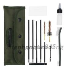 10PC Gun Cleaning Kit For 22 22LR .223 556 Rifle Set Cleaning Rod Brushes
